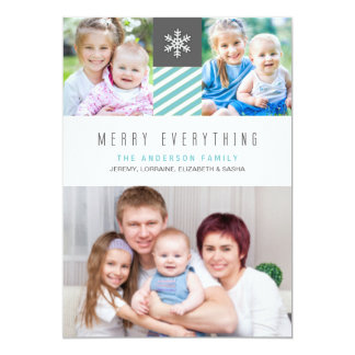 Modern Merry Everything Holiday Photo Cards 13 Cm X 18 Cm Invitation Card