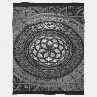 Modern Metal Mandala sheet Fleece Blanket