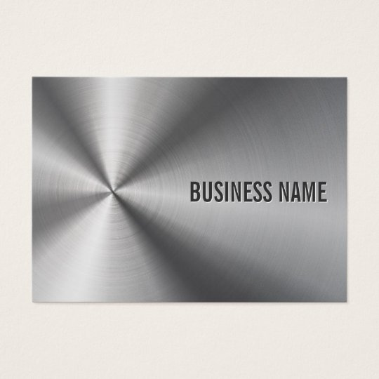 Modern Metal Professional Bold & Elegant Business Card