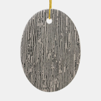 Modern metal static style design in silver grey. ceramic oval decoration
