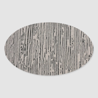 Modern metal static style design in silver grey. oval sticker