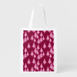 Modern metallic Christmas trees - pink & wine