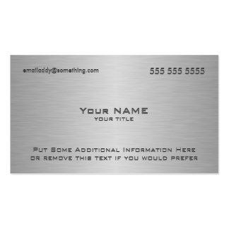 Modern Metallic Custom QR Code Pack Of Standard Business Cards