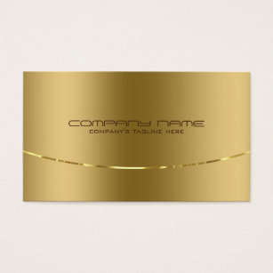 Metal business cards business card printing zazzle uk modern metallic gold design stainless steel look business card reheart Gallery