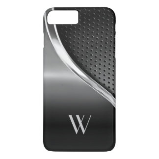 Modern Metallic Look Monogrammed iPhone 8 Plus/7 Plus Case