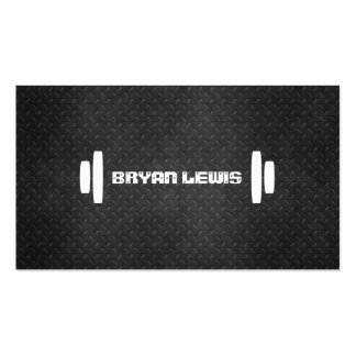 Modern Metallic Personal Trainer Business Card