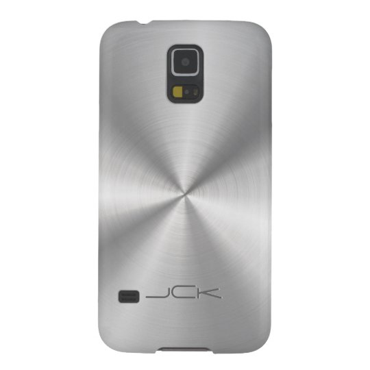 Modern Metallic Silver-Grey Stainless Steel Look Galaxy S5 Cases