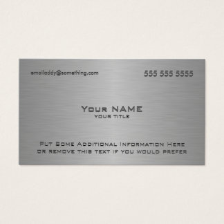 Modern Metallic Texture Print Business Card