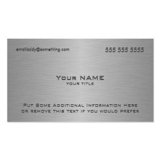 Modern Metallic Texture Print Pack Of Standard Business Cards