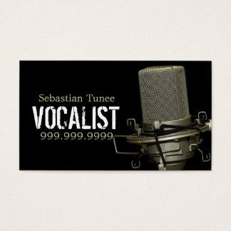 Modern Mic Singer Business Card