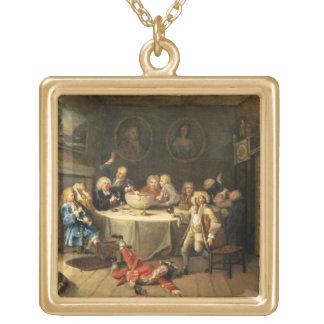 Modern Midnight Conversation Gold Plated Necklace