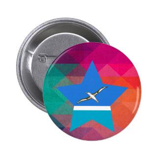 Modern Midway Islands Flag 6 Cm Round Badge