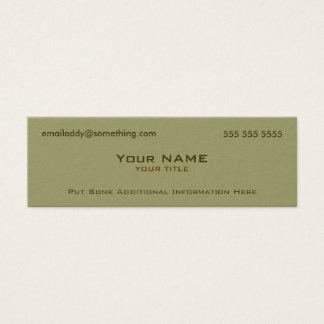 Modern Military Green Mini Business Card