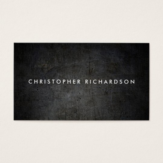 MODERN & MINIMAL Black Grunge Business Card