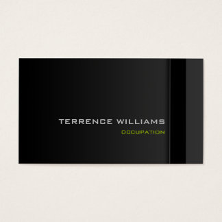 Modern minimal business card template Black Green