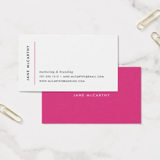 Modern Minimal Business Cards | Magenta