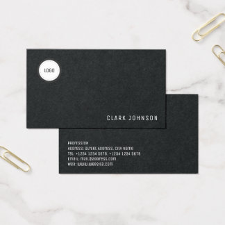 Modern minimal elegance with logo space business card