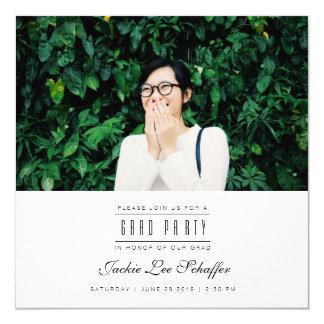 Modern & Minimal Graduation Photo Invite
