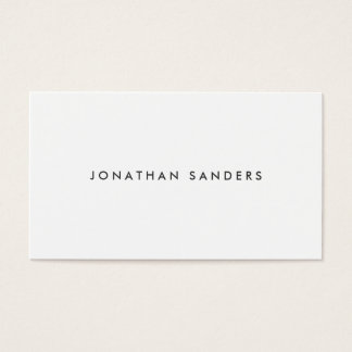 MODERN & MINIMAL No. 1 Business Card