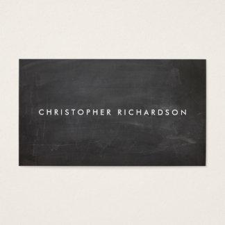 MODERN & MINIMAL on BLACK CHALKBOARD Business Card
