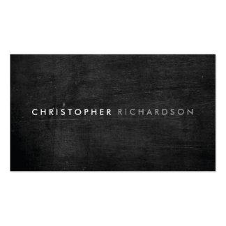 MODERN & MINIMAL on BLACK WOOD Business Card Template