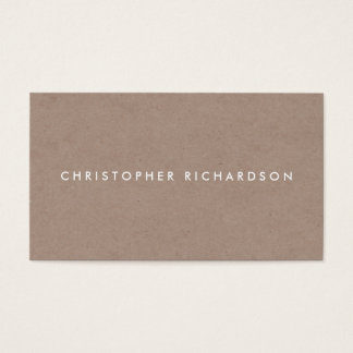 MODERN & MINIMAL on TAN CARDBOARD II Business Card
