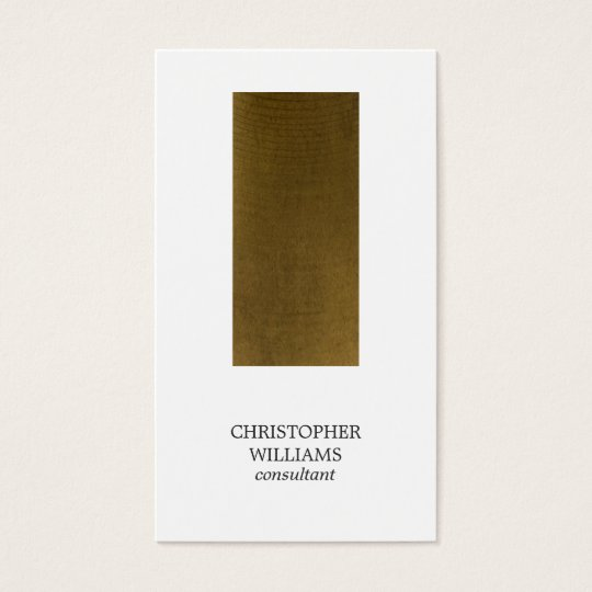 Modern Minimalist Copper Stripe Consultant Business Card