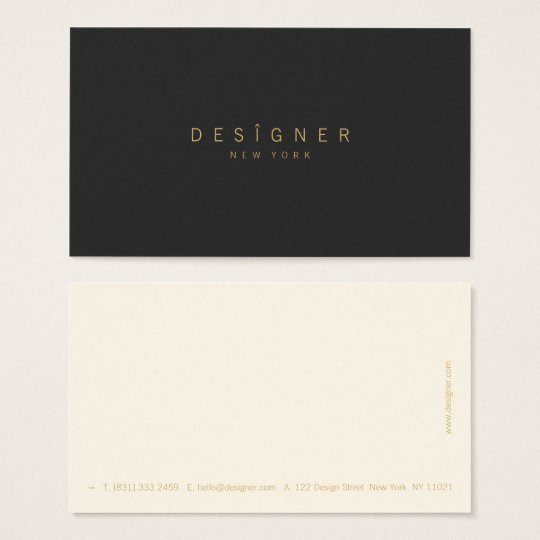 Modern minimalist elegant beige black professional business card