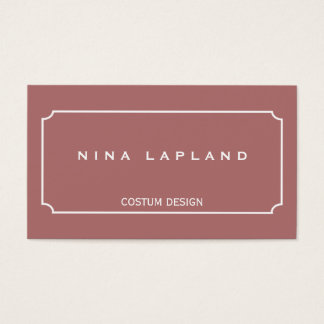 Modern minimalist elegant business card