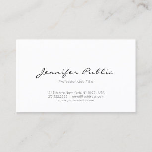 Minimalist business cards zazzle uk modern minimalist elegant professional clean plain business card reheart Images