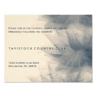 Modern Minimalist Floral Wedding Reception Card 11 Cm X 14 Cm Invitation Card