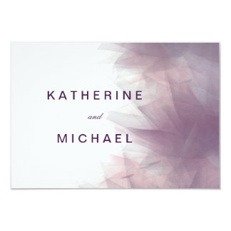 Modern Minimalist Floral Wedding Response Cards 9 Cm X 13 Cm Invitation Card