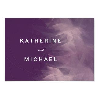 Modern Minimalist Floral Wedding Response Cards 9 Cm X 13 Cm Invitation Card