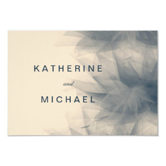 Modern Minimalist FloralWedding Response Cards 9 Cm X 13 Cm Invitation Card