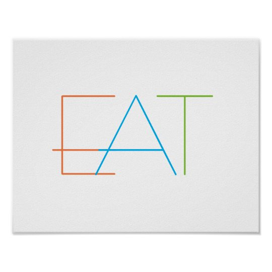 modern minimalist kitchen wall art poster eat