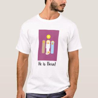 Modern Minimalist Nativity Creche Christmas (V) T-Shirt