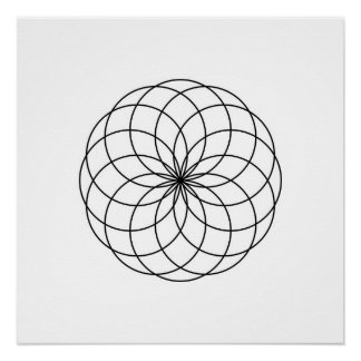 Modern Minimalist Sacred Geometry Abstract