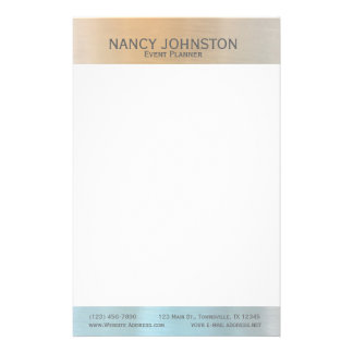 Modern Minimalist Silver Reflection Personalized Stationery