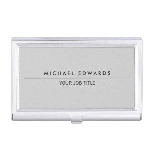 Simple modern business card holders cases zazzle modern minimalist simple professional light grey business card holder colourmoves