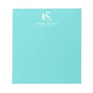 Modern Minimalist Swan Logo and Name Notepad
