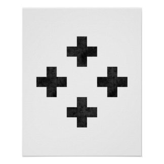 Modern minimalist swiss cross pattern art print