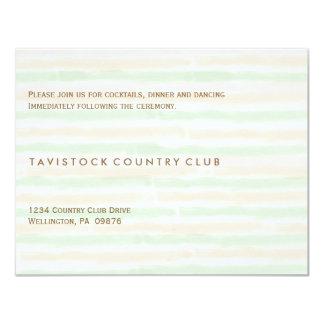 """Modern Minimalist Wedding Reception Card 4.25"""" X 5.5"""" Invitation Card"""
