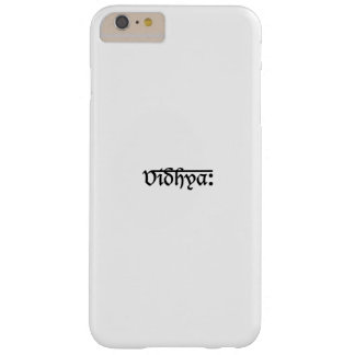 Modern Minimalistic Black White Typography Art Barely There iPhone 6 Plus Case