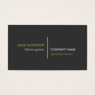 Modern Minimalistic Dark Grey Lime Green