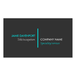 Modern Minimalistic Dark Grey Neon Blue Pack Of Standard Business Cards