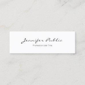 Modern Minimalistic Elegant Professional Plain Mini Business Card