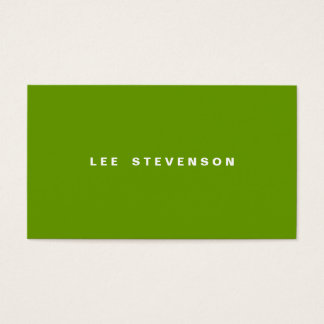 Modern Minimalistic Lime Green Business Card