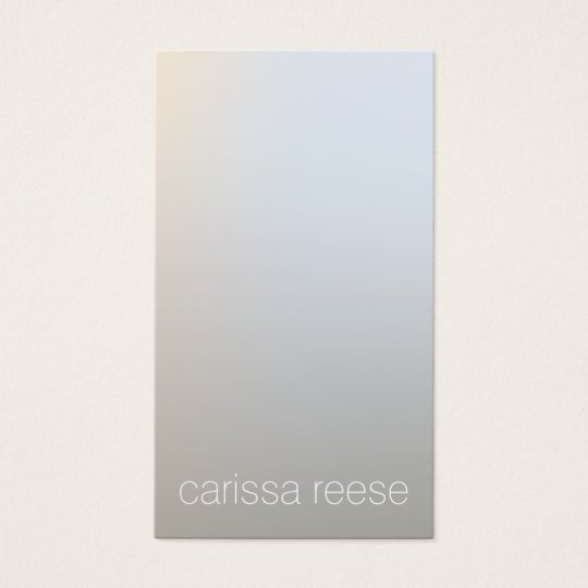 Modern Minimalistic Luminous Silver Professional Business Card