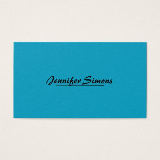 Modern Minimalistic Professional Simply Elegant Business Card