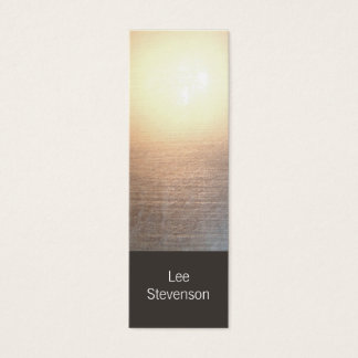 Modern Minimalistic Zen Glow Mini Business Card
